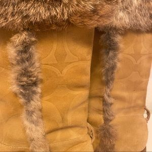 Coach Shoes - Coach Boots with embossed logo and fur
